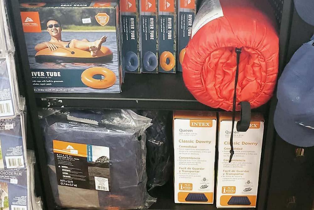 Camping and lake gear