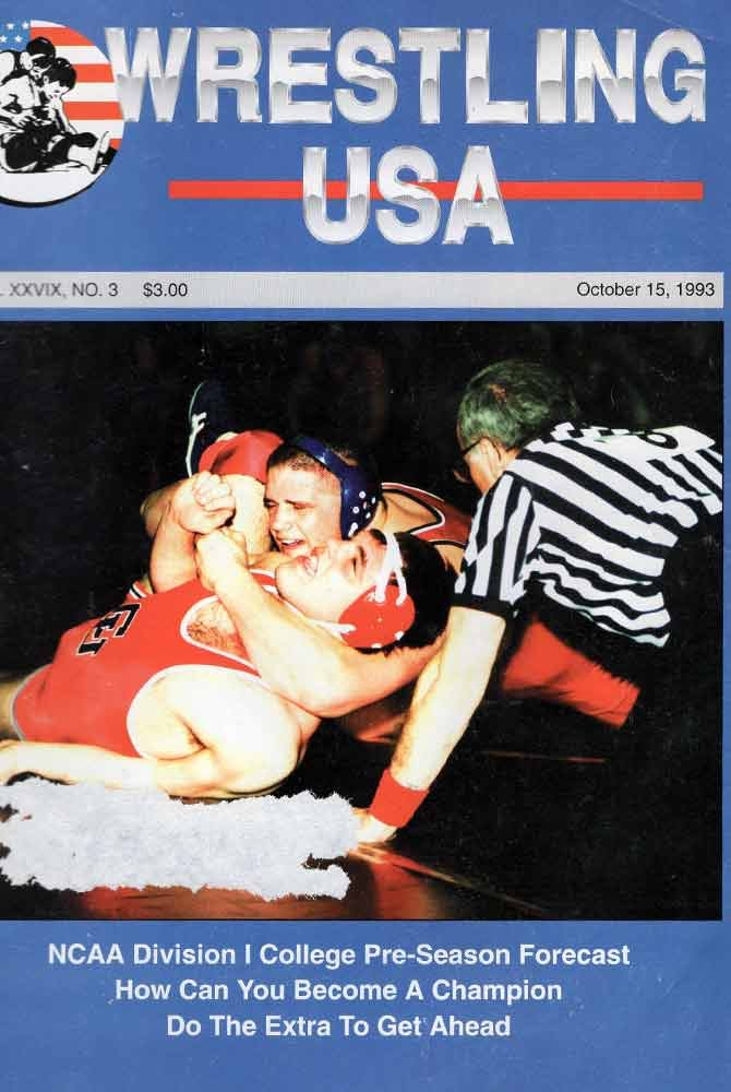 Rulon and opponent on cover of Wrestling USA magazine