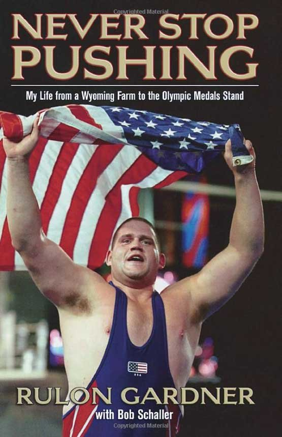 Rulon on book cover of Never Stop Pushing