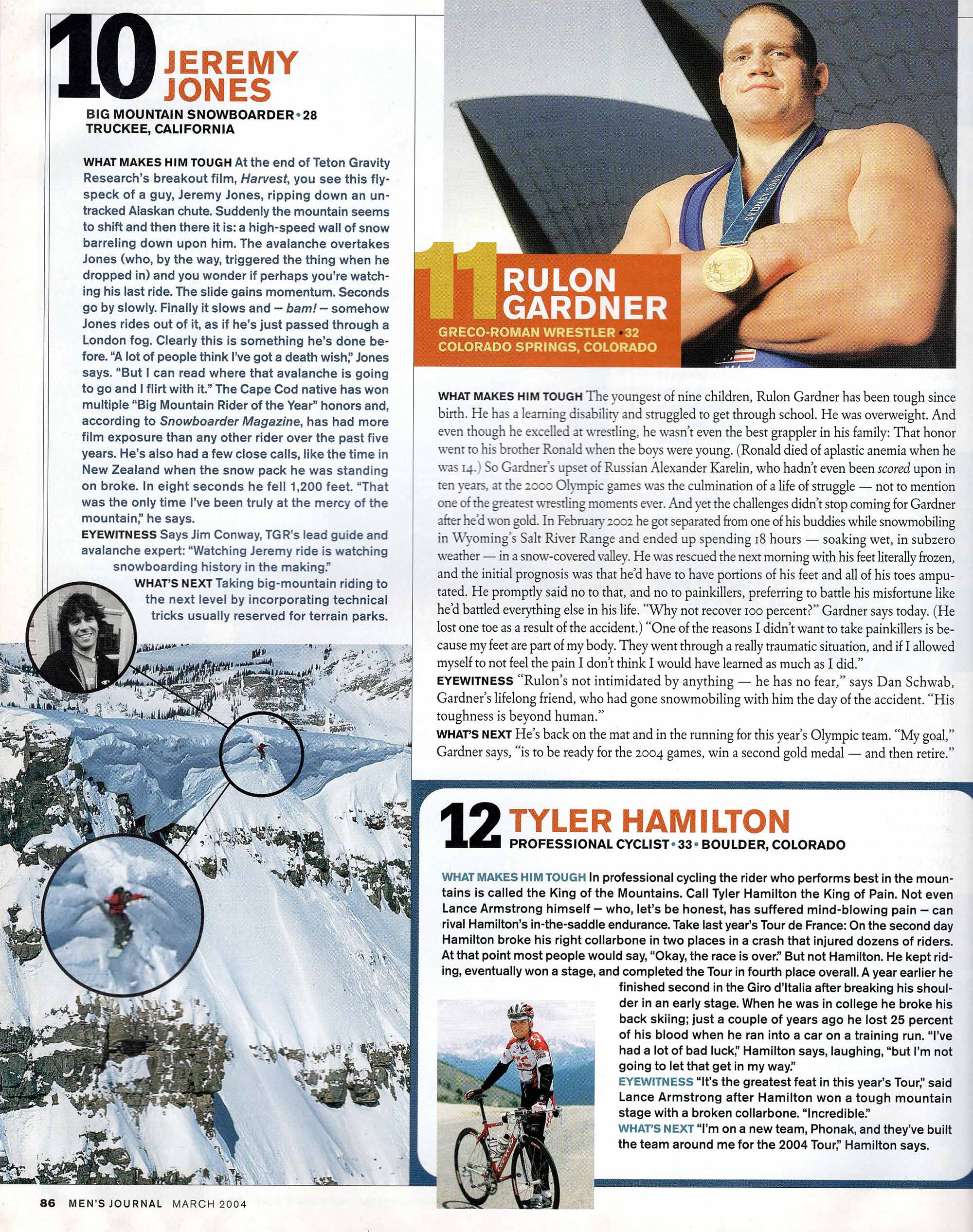 News article of Rulon Gardner