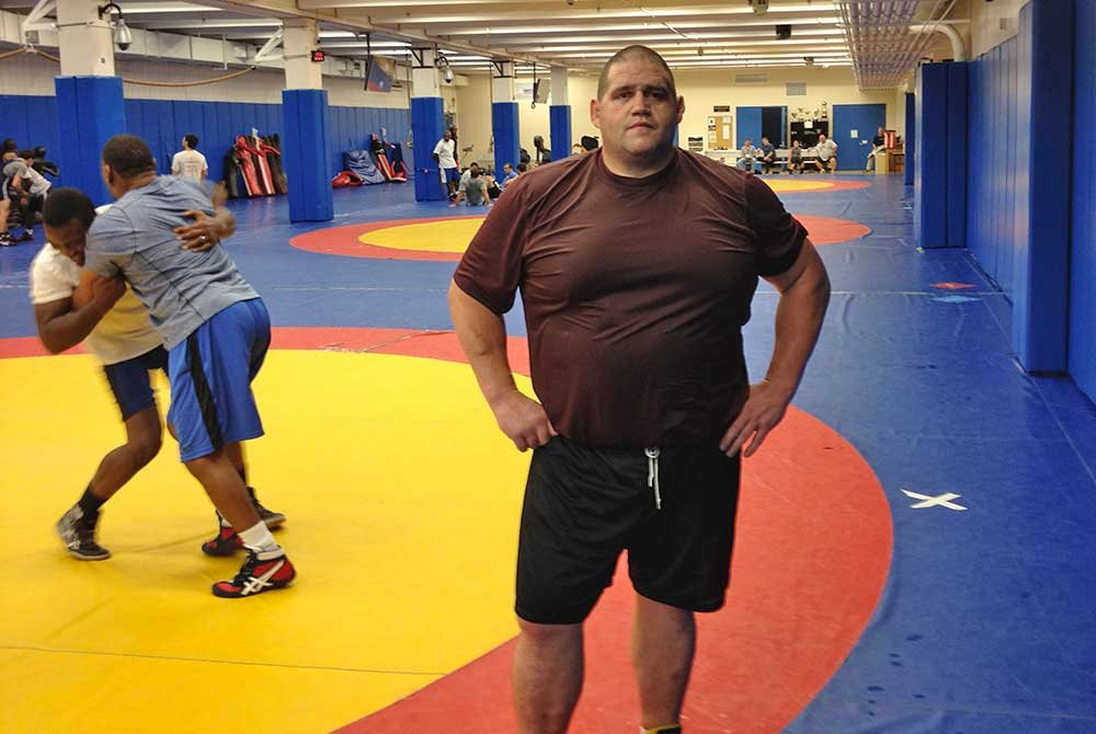 Rulon in wrestling training room