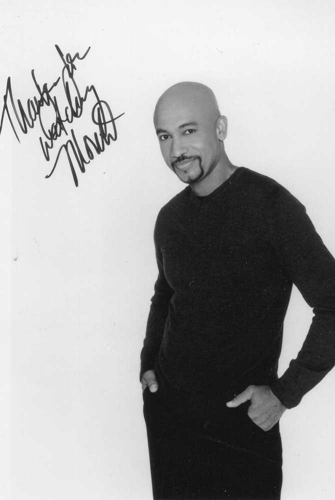 Autographed photo of a man