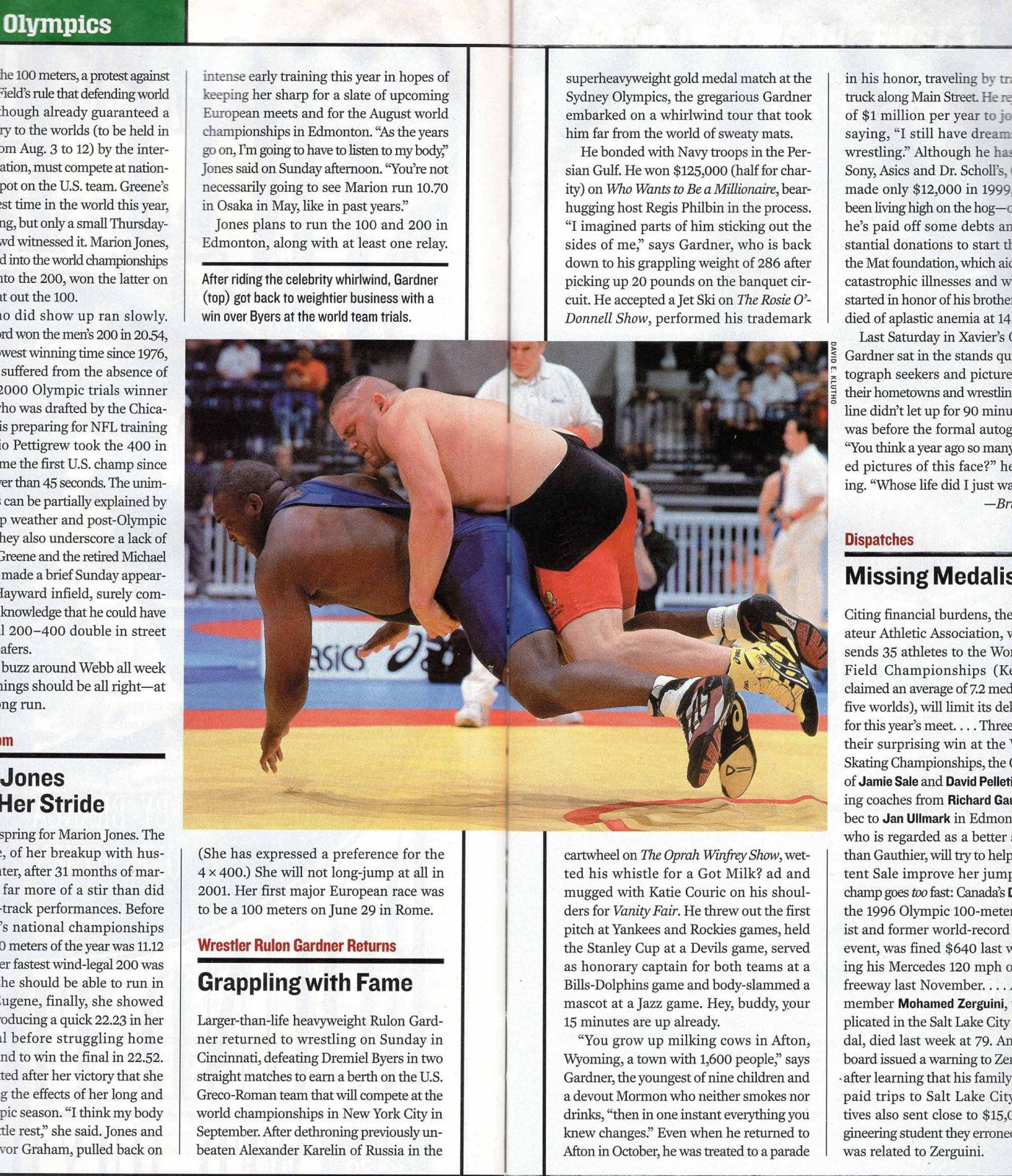 News article of Rulon's olympic victory