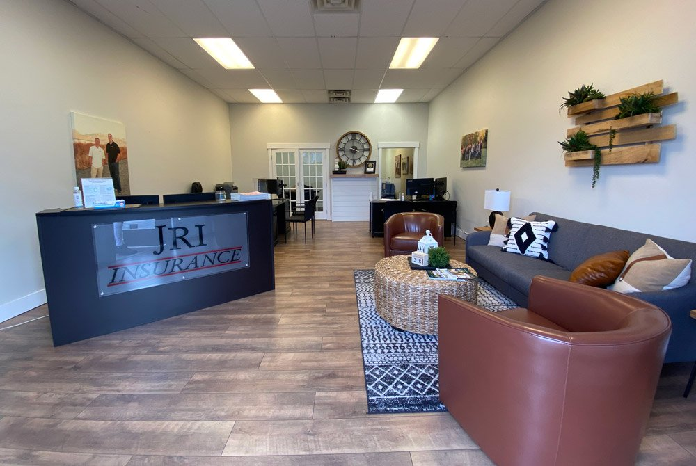 Front desk with couches in the waiting room