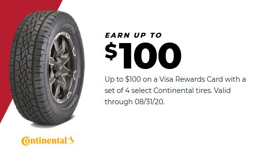 Continental tires coupon