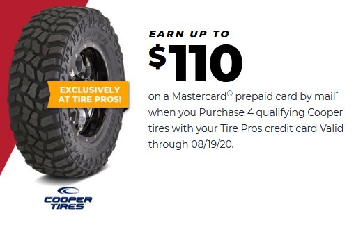 Cooper tires coupon