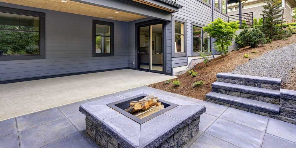 Patio and firepit