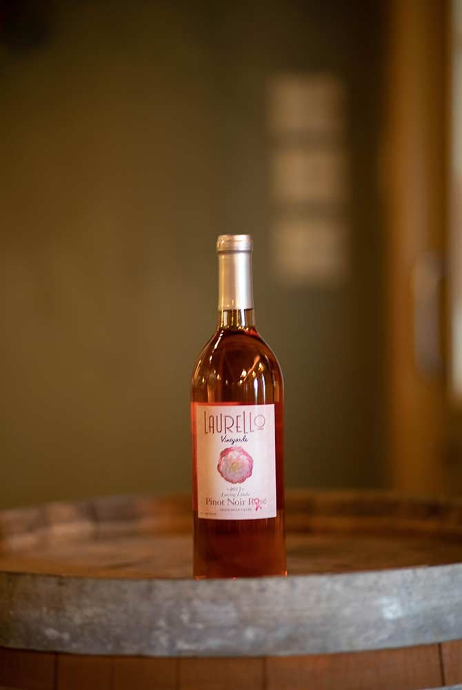 Pinot Noir Rosé wine bottle