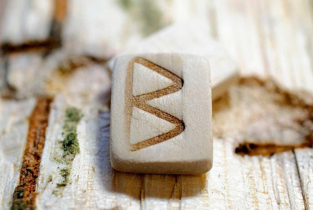 Berkana Rune Tile