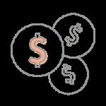 Three coins icon