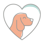 Dog in a heart icon