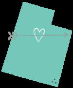 Heart through a map of utah valley utah