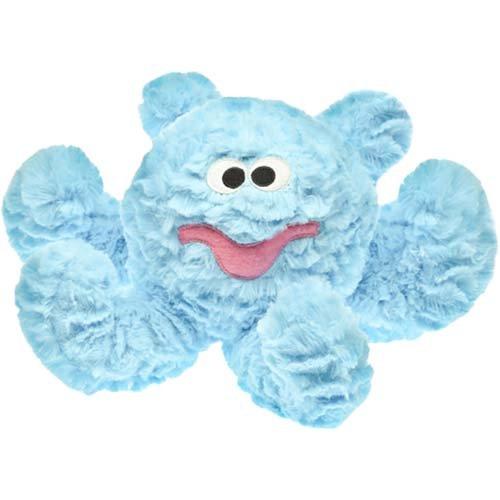 Light blue plush octopus toy