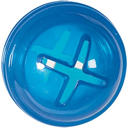 Blue treat dispensing toy