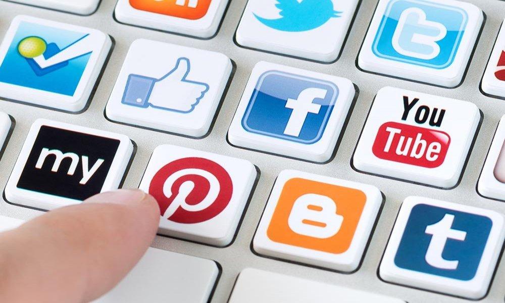 social media icon keyboard