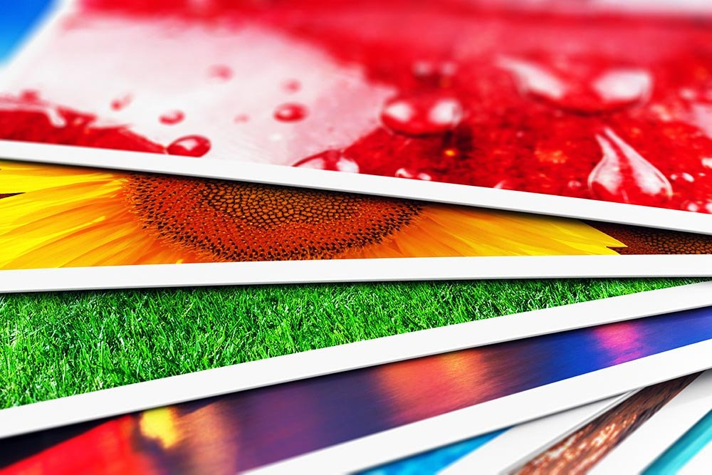 stack of colorful graphic prints