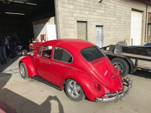 Volkswagen beetle before restoration side