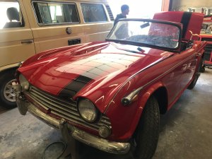 red Triumph TR4 front