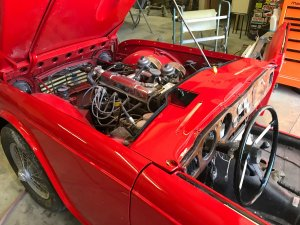 restored Triumph TR4 engine