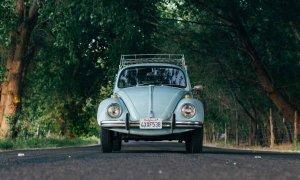 Blue classic VW bug