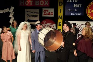 Big Drum Near Bride and Groom in Guys and Dolls 2017