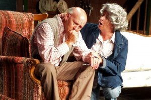 Elderly Couple Sitting on Couch in On Golden Pond 2016