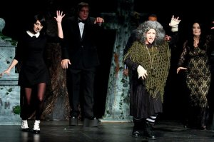 Wednesday, Lurch, and Grandma Dancing in Addams Family 2016
