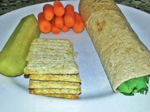tuna wrap and pickle