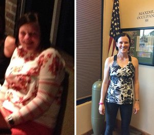 woman proud of weight loss