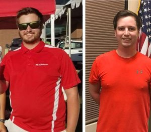 man before losing weight and after