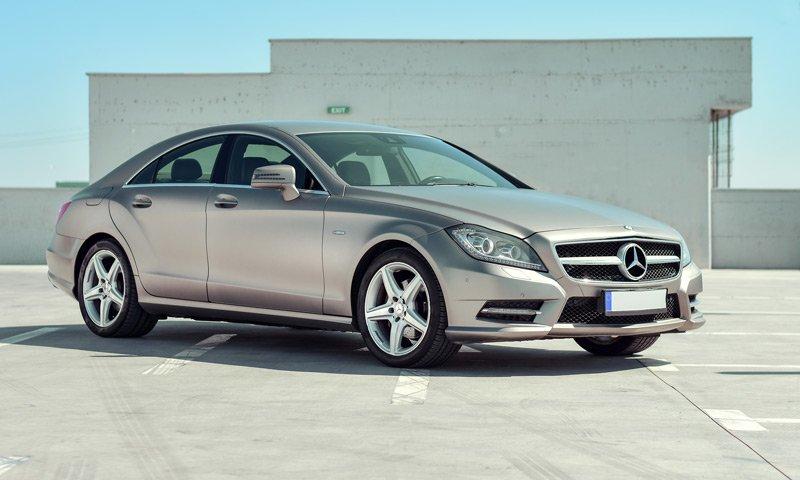grey Mercedes