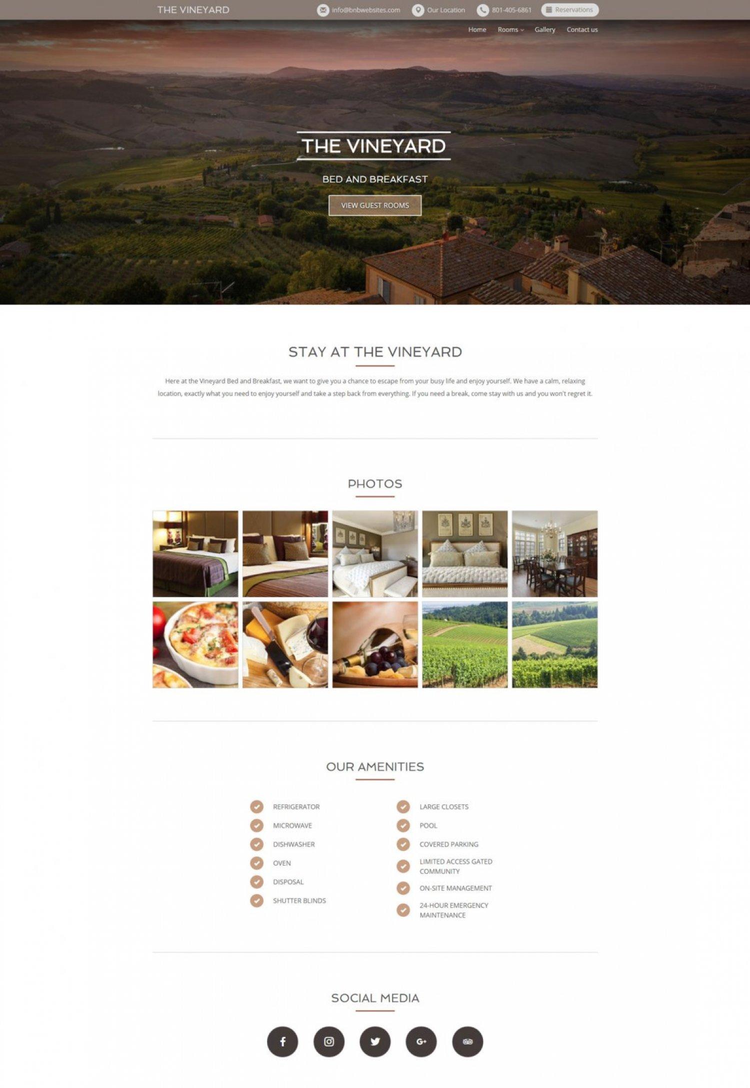 The Vineyard Web Design