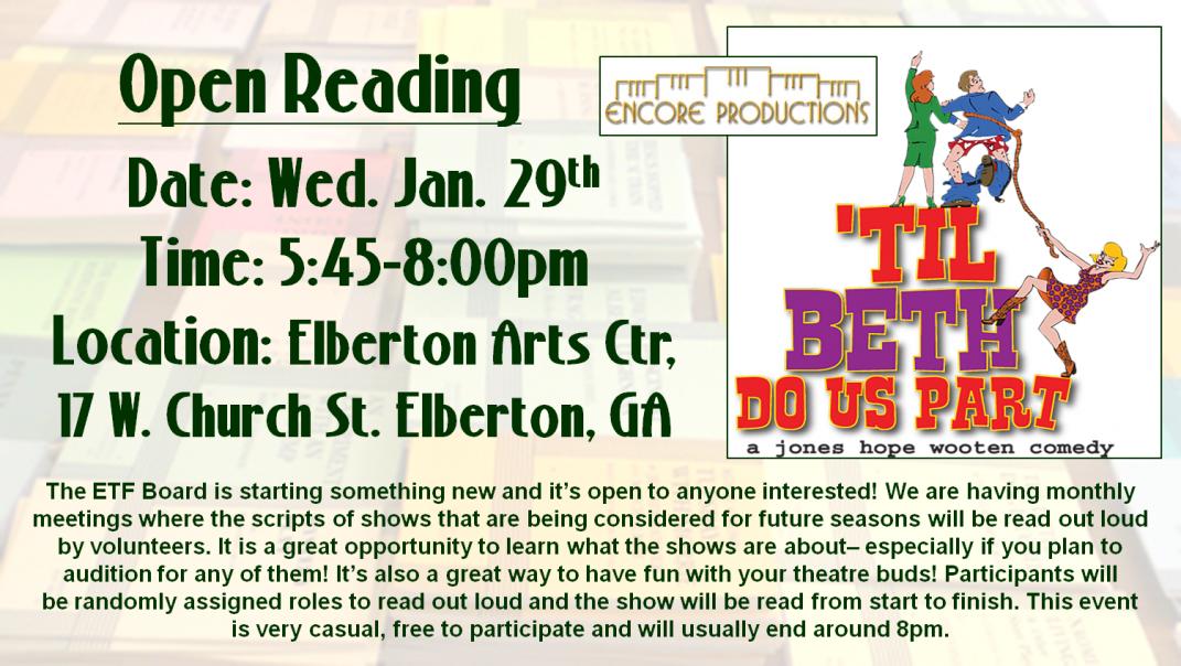 Til Beth Do Us Part Open Reading