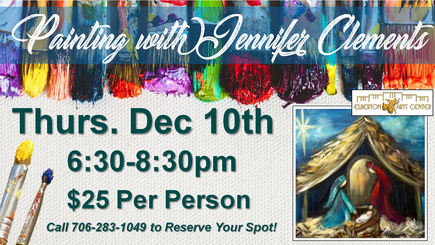 Painting with Jennifer Thurs Dec 10