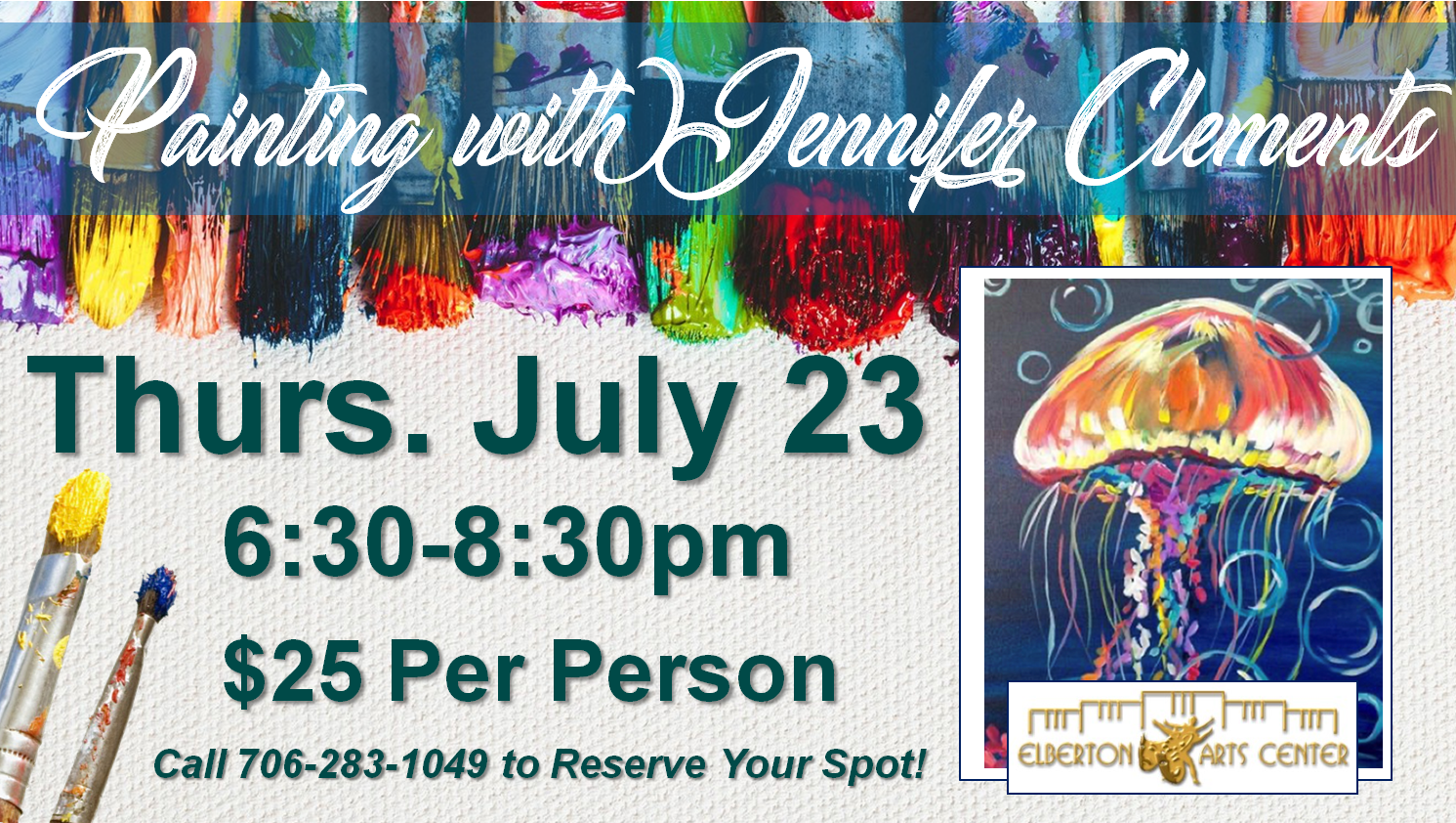 Painting with Jennifer Thurs July 23