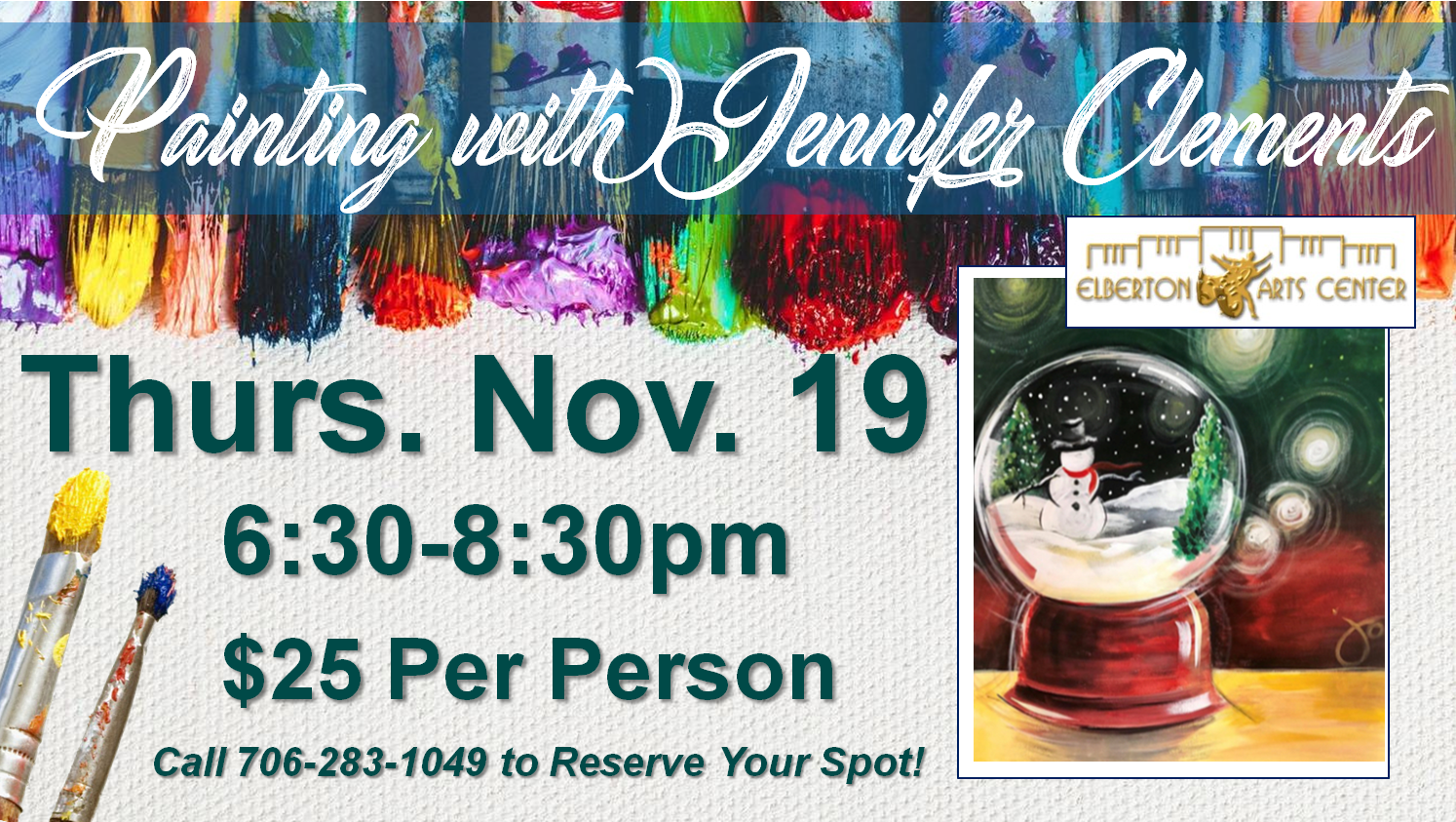 Painting with Jennifer Thurs Nov 19