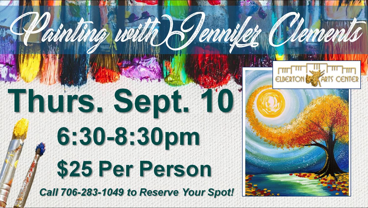 Painting with Jennifer Thurs Sept 10