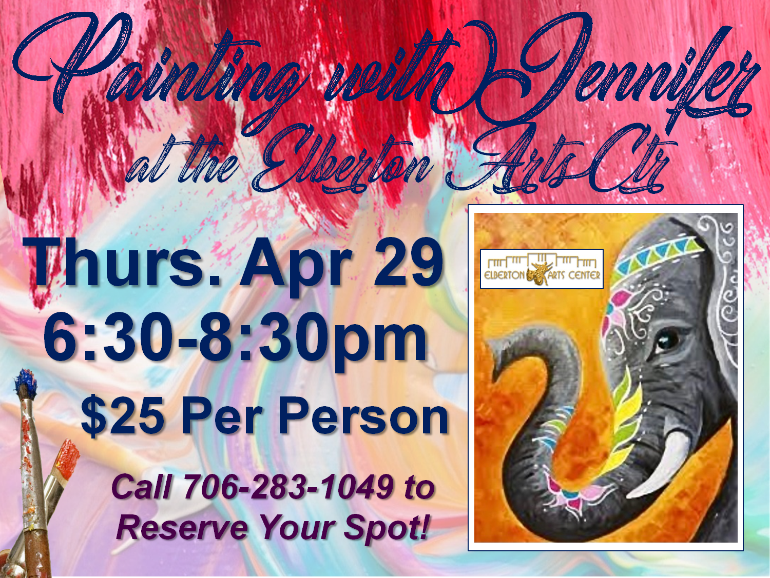 Painting with Jennifer Thurs Apr 29