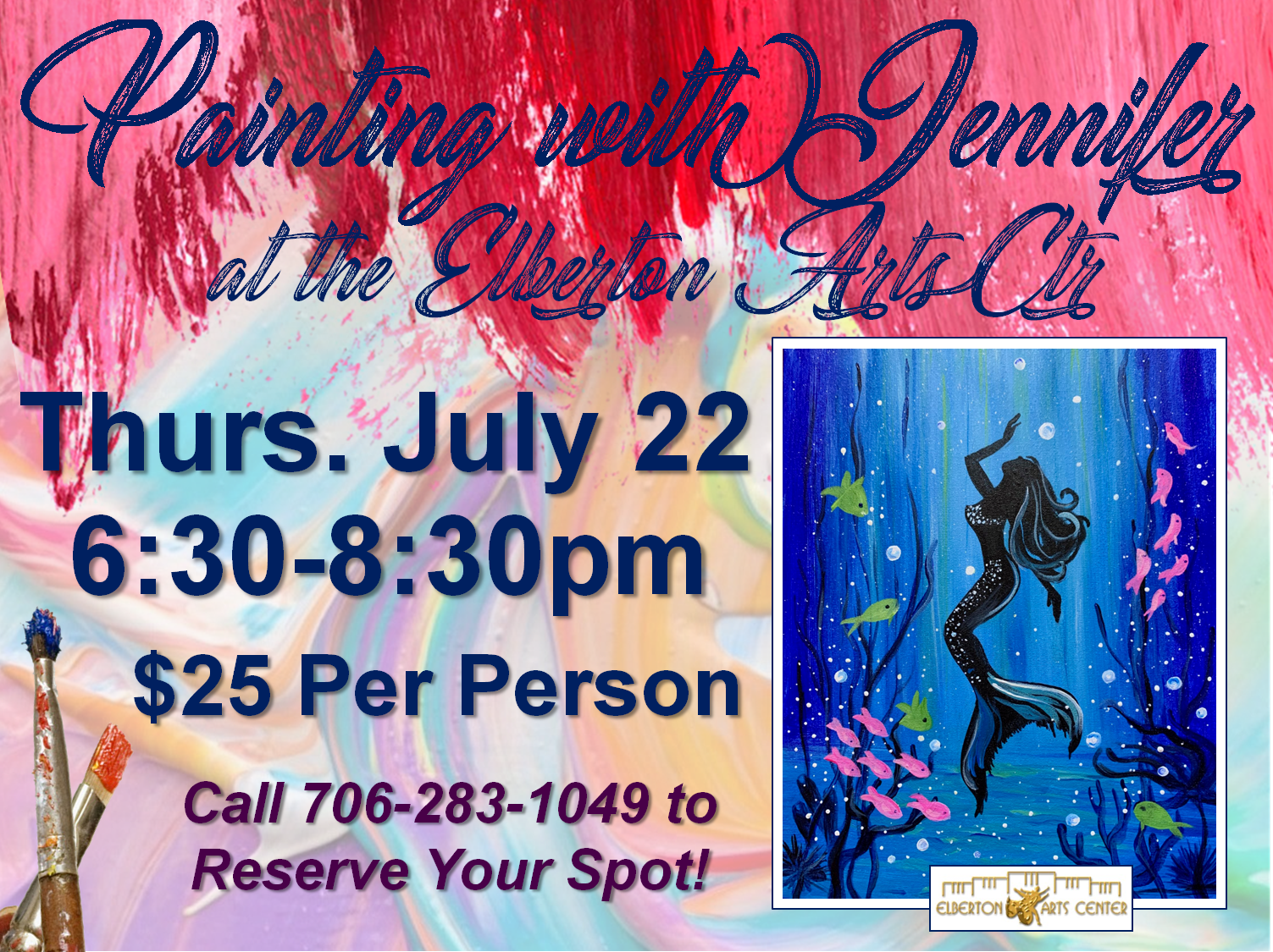 Painting with Jennifer Thurs July 22