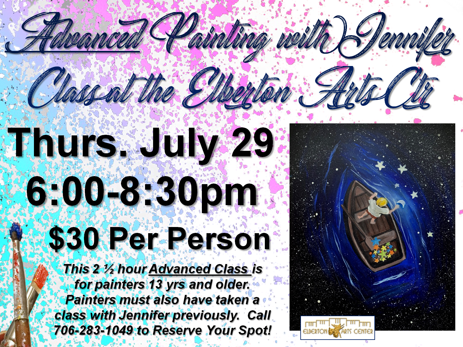 Painting with Jennifer Thurs July 29