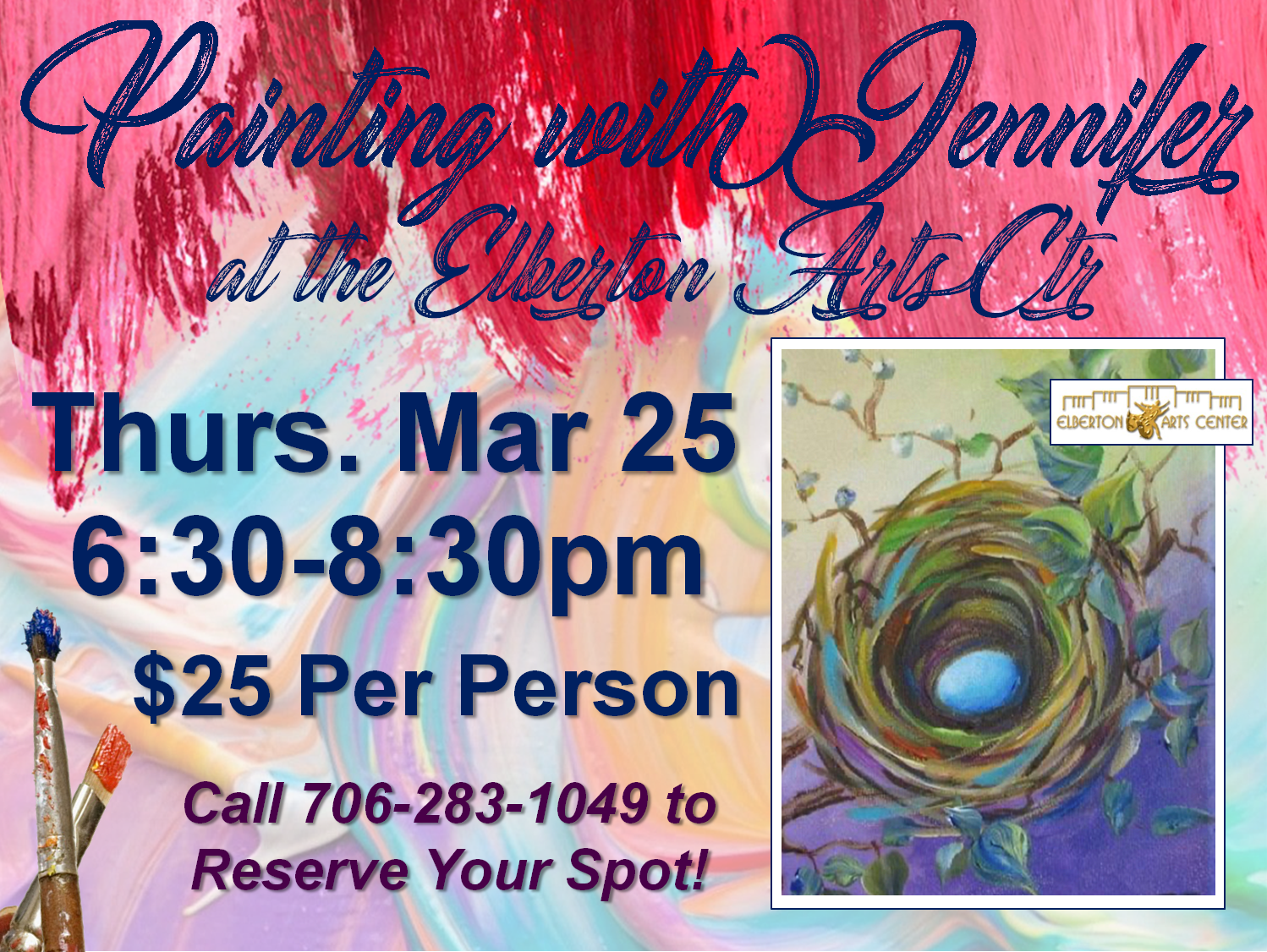 Painting with Jennifer Thurs Mar 25