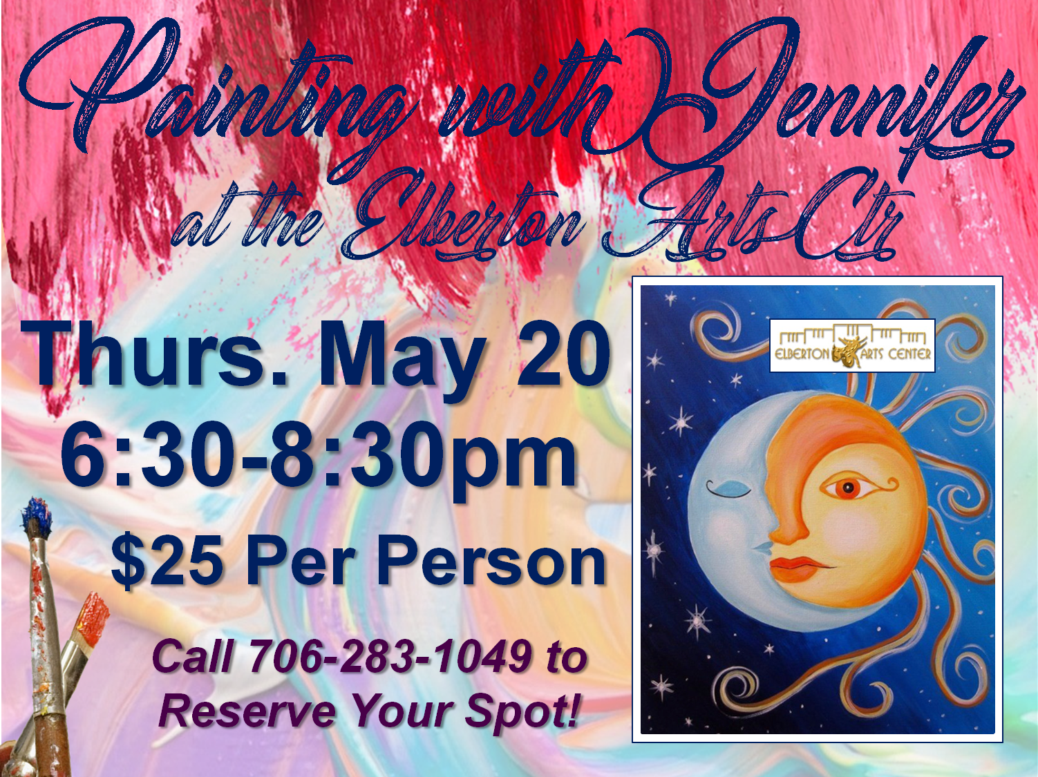 Painting with Jennifer Thurs May 20