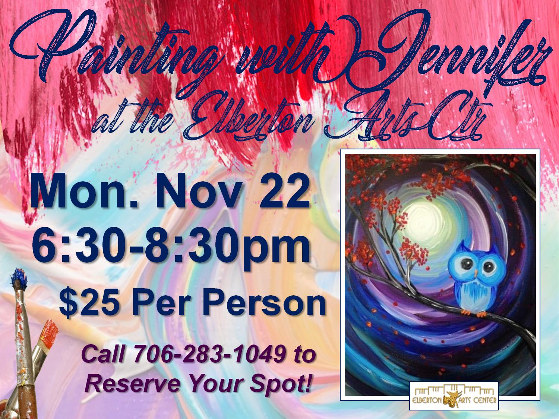 Painting with Jennifer Mon Nov 22
