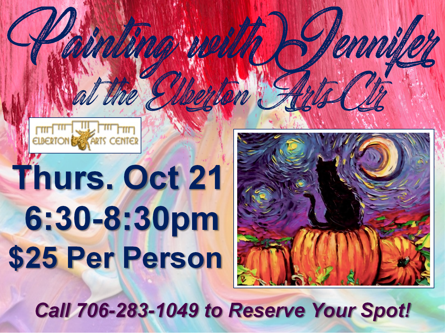 Painting with Jennifer Thurs Oct 21