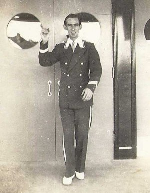 Historic Photo of Man Greeting Guests