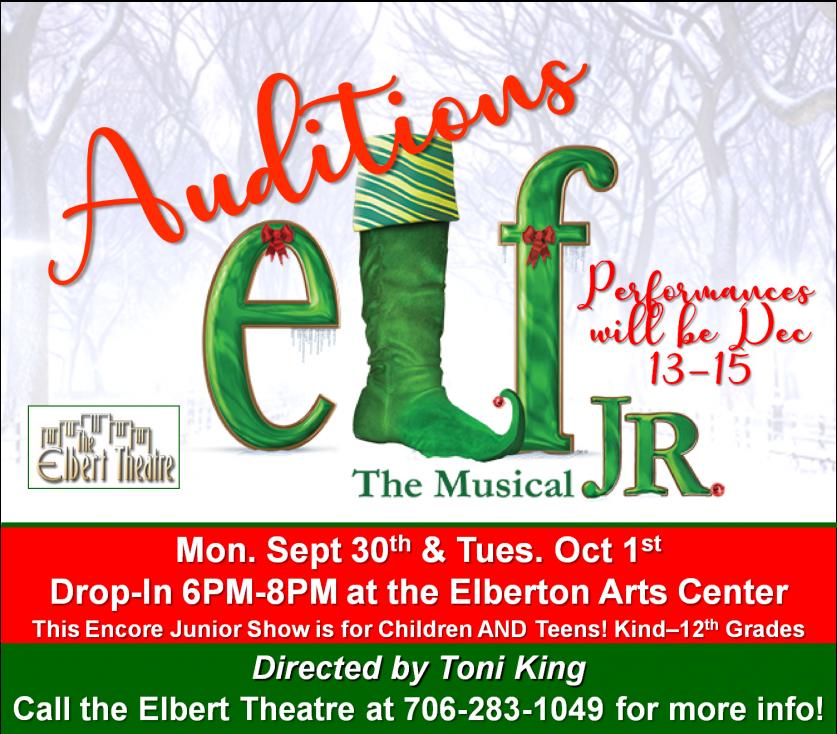 Elf Jr Auditions