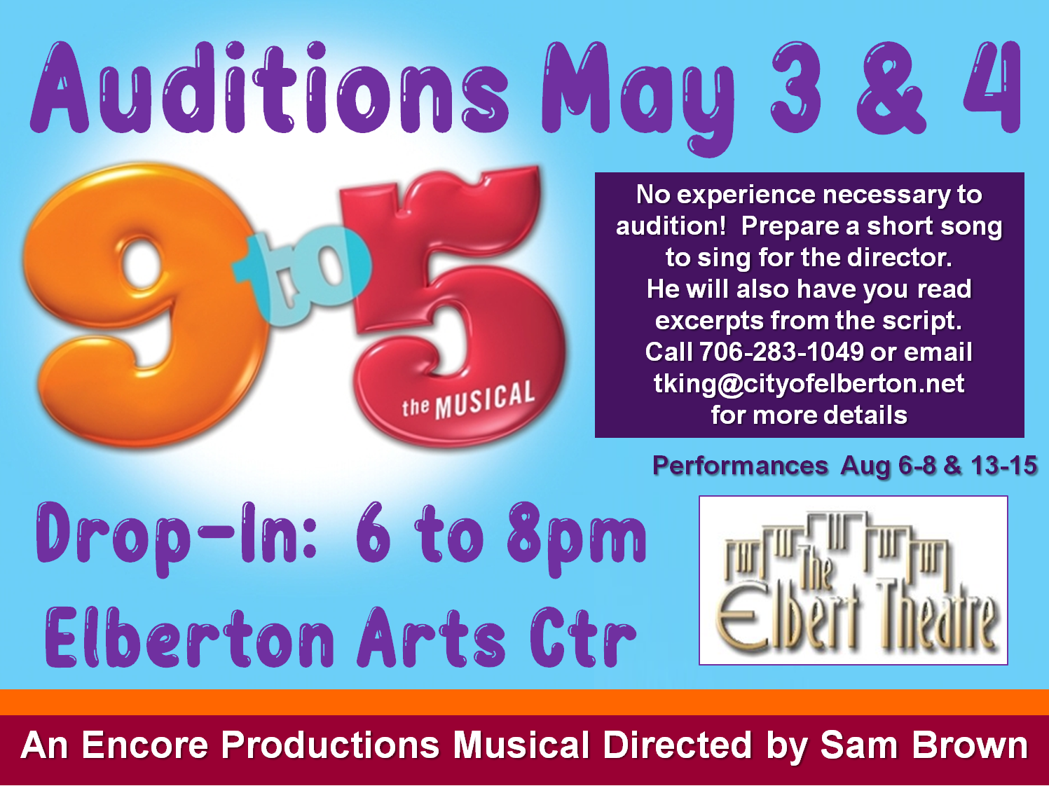 9 to 5 Auditions