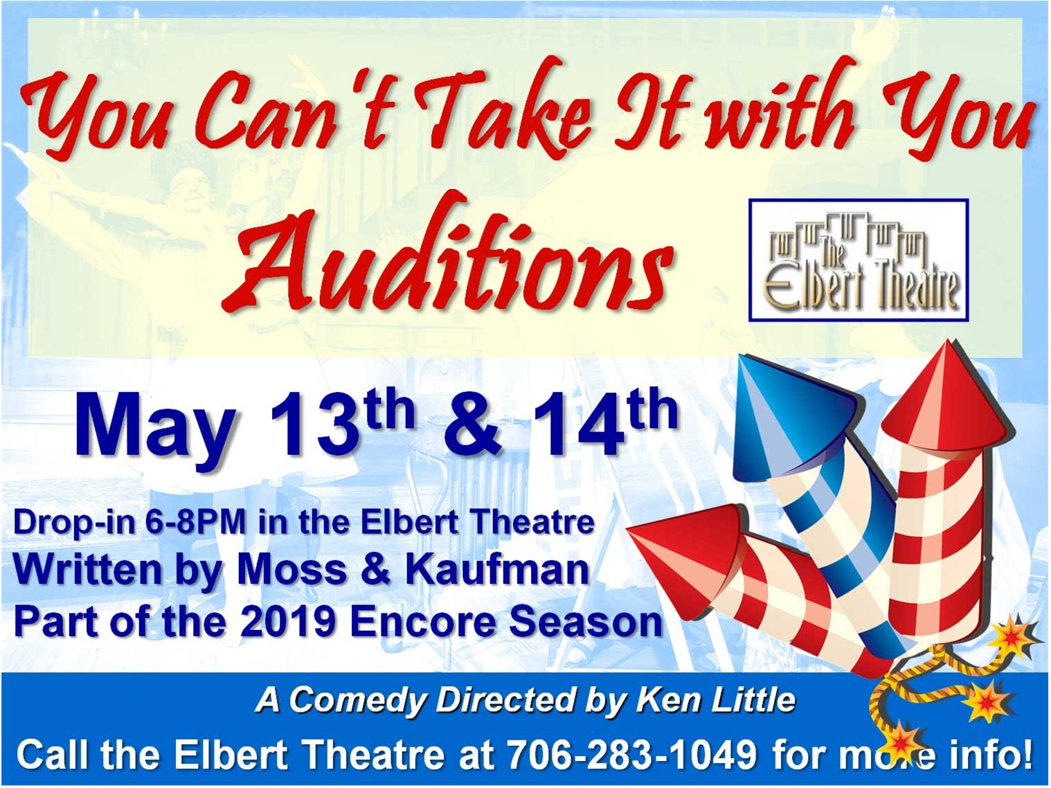 You Can't Take It With You Auditions Advertisement