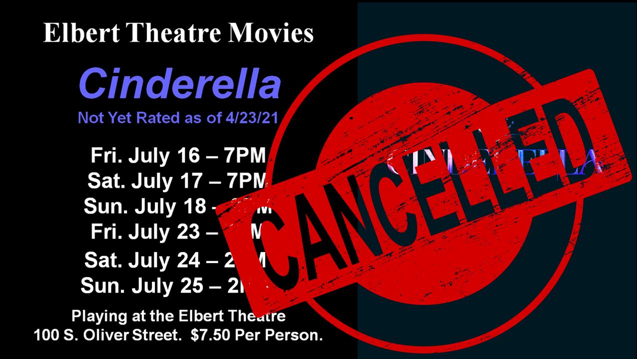 Cinderella cancelled