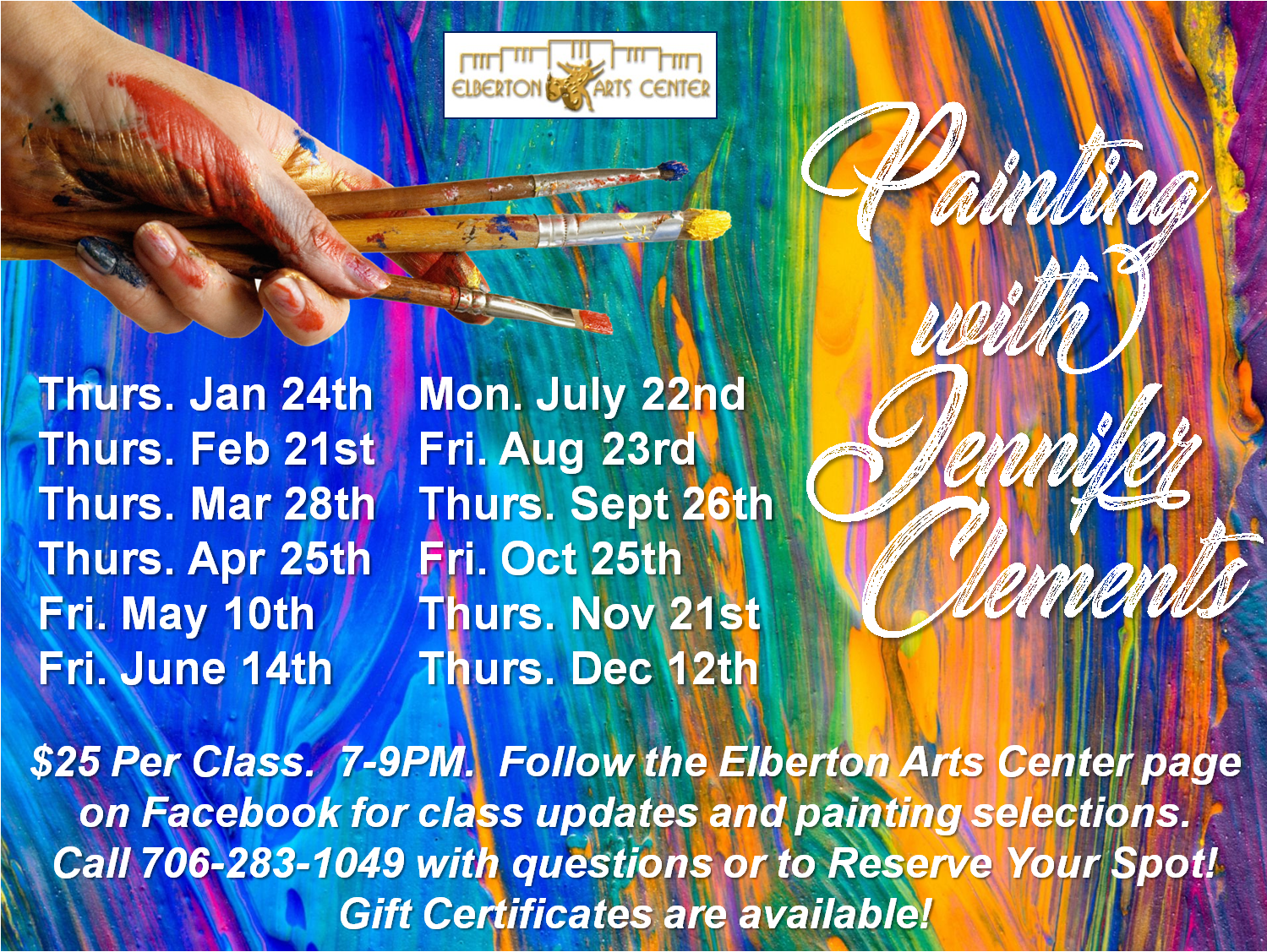 Painting Class with Jennifer Clements Advertisement